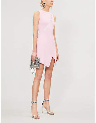 David Koma Zip-trim crepe mini dress
