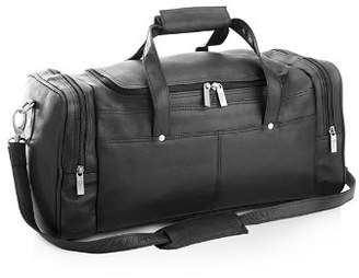 ROYCE New York Overnight Leather Duffel Bag