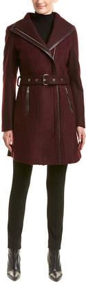 Tahari Elaine Wool-Blend Coat