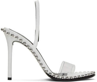 Alexander Wang White Leather Nova Sandals