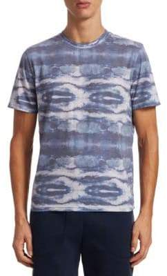 Saks Fifth Avenue COLLECTION Blue Print Tee