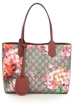 Gucci GG Blooms Small Reversible Tote $980 thestylecure.com