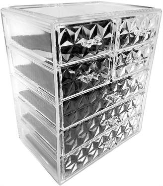 SORBUS Sorbus Acrylic Cosmetic Makeup and Jewelry StorageCase Display (3 Large/4 Small Drawers)