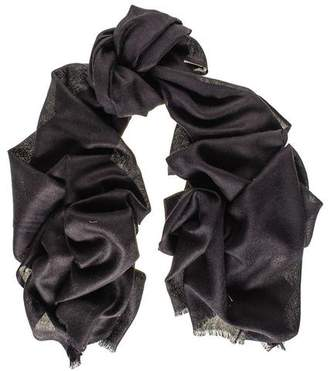 Black Classic Cashmere and Silk Scarf