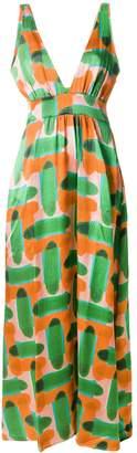 L'Autre Chose abstract pattern maxi dress