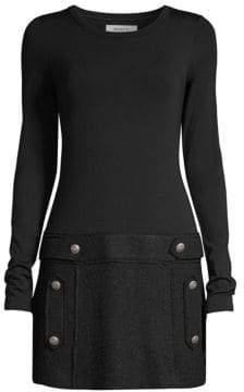 Bailey 44 Oksana Wool Blend Mini Dress