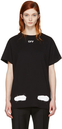 Off-White SSENSE Exclusive Black Diagonal Spray T-Shirt $270 thestylecure.com