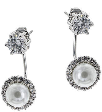 Kenneth Jay Lane CZ by Cz By Plated Jacket Earrings