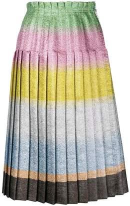 Marco De Vincenzo colour-block pleated skirt