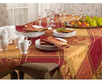 The Holiday Aisle Thanksgiving Fall Autumn Design Jacquard Cotton Blend Tablecloth
