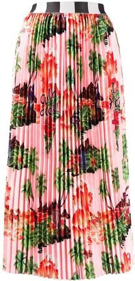 Stella Jean pleated midi skirt