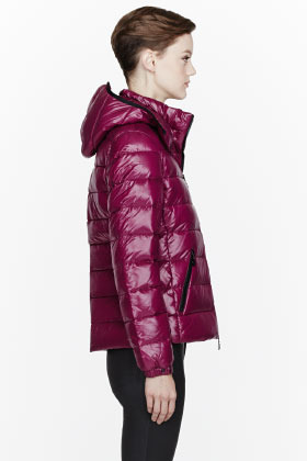 Moncler Fuchsia quilted down Bady jacket