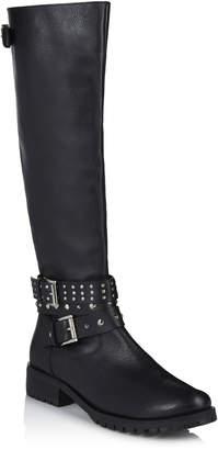 Long Tall Sally LTS Roxi Leather Biker Boot