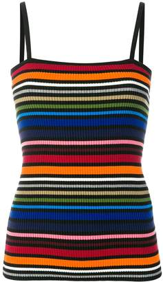 Dolce & Gabbana Striped Ribbed Camisole