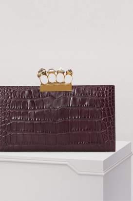 Alexander McQueen Four ring clutch