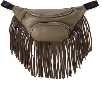 Like Dreams Olive Faux Suede Fringes Fanny Pack