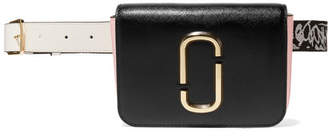 Marc Jacobs The Hip Shot Convertible Textured-leather Belt Bag - Black