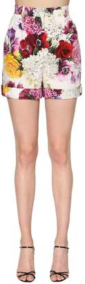 Dolce & Gabbana Floral Printed Cotton Poplin Shorts