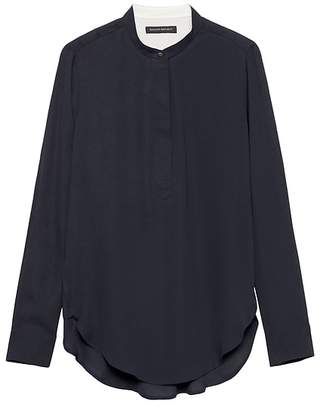 Banana Republic Parker Tunic-Fit Popover Shirt