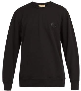 Burberry Logo Crest Cotton Sweatshirt - Mens - Black