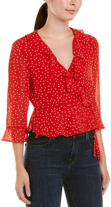 Bardot Spotty Top