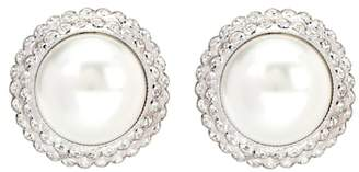 Alessandra Rich Faux pearl clip-on earrings