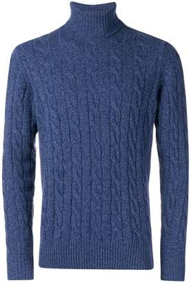 Borrelli cable knit turtleneck jumper
