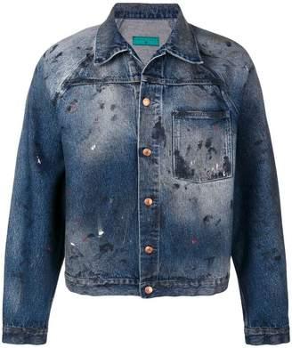 Paura paint splash denim jacket