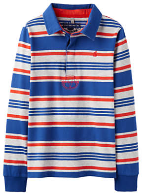 Joules Little Joule Boys' Junior Woodrow Rugby Top, Red