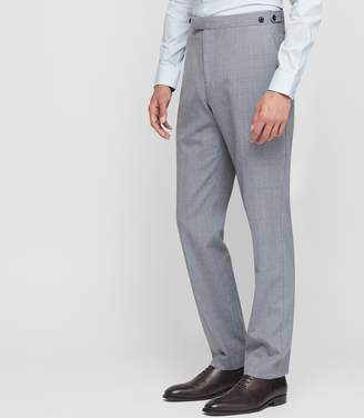 Reiss ROVER T MODERN FIT WOOL TROUSERS Soft Blue