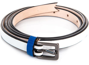 Meredith Wendell Slim leather belt