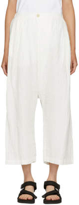 Blue Blue Japan White Full Wide Trousers