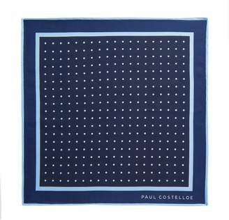 CLANE Paul Costelloe Herringbone Spot Pocket Square