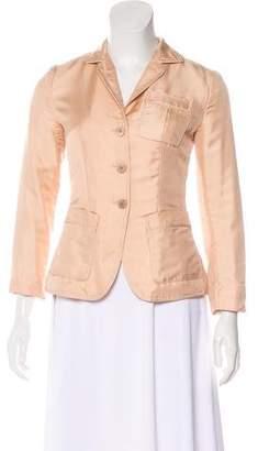 Prada Silk Button-Up Blazer