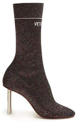 Vetements Lighter Heel Sock Ankle Boots - Womens - Multi
