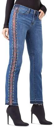 Liverpool Colette Embellished Straight Ankle Jeans in Montauk