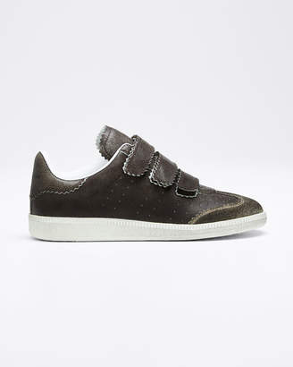 Isabel Marant Beth Pinked Grip-Strap Sneakers