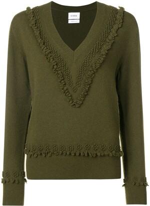 Barrie embroidered V-neck pullover