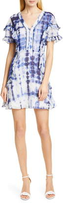 Tanya Taylor Rhett Tie Dye Silk & Cotton Dress