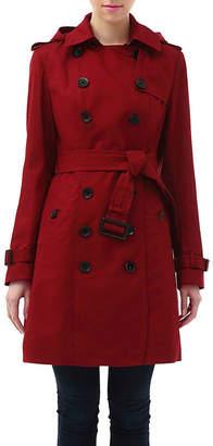 BGSD Women's Alexa Classic Hooded Long Trench Coat