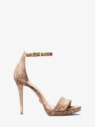 MICHAEL Michael Kors Hutton Lizard-Embossed Leather Sandal