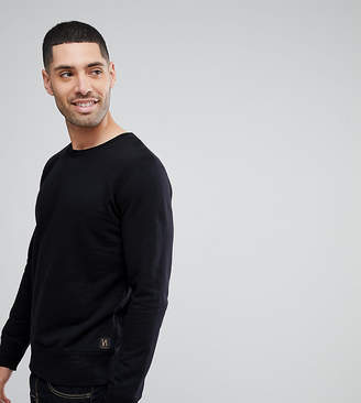 Nudie Jeans crew neck sweatshirt in black