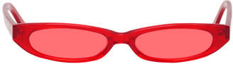 Roberi and Fraud Red Frances Sunglasses