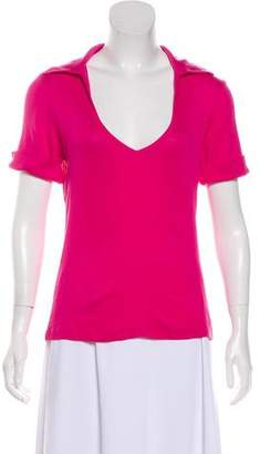 Trina Turk Short Sleeve V-Neck Top