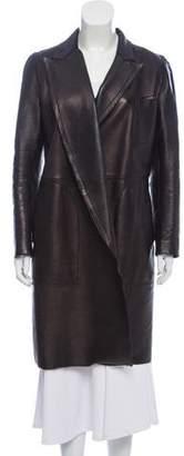 Jean Paul Gaultier Leather Knee-Length Jacket