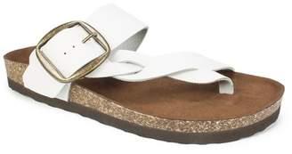 White Mountain Harvey Braided Footbed Sandal