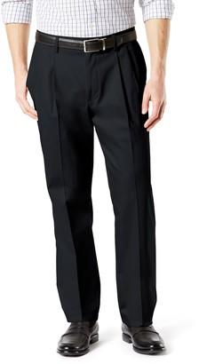 Dockers Big & Tall Signature Khaki Lux Classic-Fit Stretch Pleated Pants D3