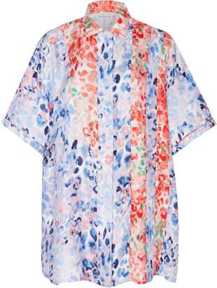 2e97bae80ebffd Prabal Gurung Printed Silk Button Down Shirt