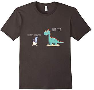 Dad does God exist dinosaurs atheist funny T-shirt tee shirt