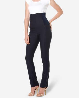 Skinny High Waisted Pants Navy